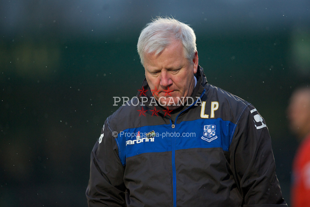WYCOMBE, ENGLAND - Saturday, February 4, 2012: Tranmere Rovers' manager Les Parry during the Football League One match against Wycombe Wanderers at Adams Park. (Pic by David Rawcliffe/Propaganda)