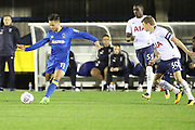 AFC Wimbledon attacker Harry Forrester (11) with a through ball during the EFL Trophy match between AFC Wimbledon and Tottenham Hotspur at the Cherry Red Records Stadium, Kingston, England on 3 October 2017. Photo by Matthew Redman.