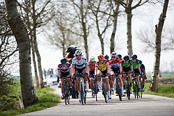 Chantal Blaak (NED) leads the front group at Healthy Ageing Tour 2018 - Stage 4, a 143 km road race starting and finishing in Winsum on April 7, 2018. Photo by Sean Robinson/Velofocus.com