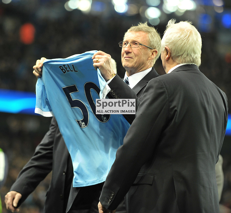 Manchester City legend Colin Bell<br /> <br /> Manchester City v Dynamo Kiev, UEFA Champions League, Tuesday 15th March 2016<br /> <br /> (c) Alex Todd | SportPix.org.uk