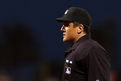 June 21, 2011; San Francisco, CA, USA;  MLB umpire Mike DiMuro (16) stands behind home plate during the sixth inning between the San Francisco Giants and the Minnesota Twins at AT&T Park. Minnesota defeated San Francisco 9-2.