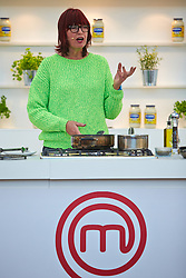 © Licensed to London News Pictures.  15/11/2013. LONDON, UK. Former Celebrity Masterchef contestant Janet Street-Porter (pictured) gives a cookery demonstration at the BBC Good Food Show held in Olympia Exhibition Hall. The event opens today and runs until Sunday 17 November. Photo credit: Cliff Hide/LNP