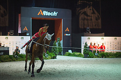 Pascale Wagner, (SUI), Siegfried, Michael Heuer - Individuals Women Compulsory Vaulting - Alltech FEI World Equestrian Games™ 2014 - Normandy, France.<br /> © Hippo Foto Team - Jon Stroud<br /> 02/09/2014