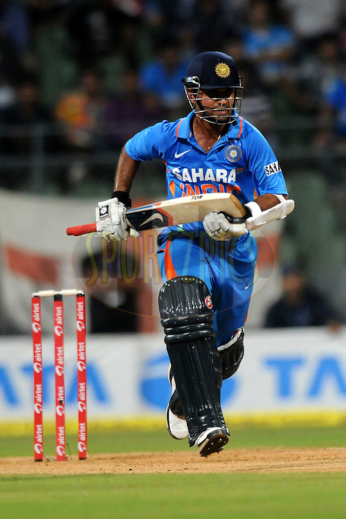 Ajinkya Rahane of India bats during the 4th One Day International ( ODI ) match between India and England held at the Wankhede Stadium, Mumbai on the 23rd October 2011..Photo by Pal Pillai/BCCI/SPORTZPICS.