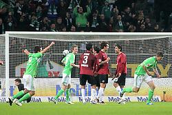 19.11.2011, Volkswagen Arena, Wolfsburg, GER, 1.FBL, VFL Wolfsburg vs Hannover 96, im Bild VfL Spieler Alexander Madlung #17 re. hat soeben per Freistoss das 4:1 erzielt. // during the match from GER, 1.FBL,VFL Wolfsburg vs Hannover 96 on 2011/11/19, Volkswagen Arena, Wolfsburg, Germany..EXPA Pictures © 2011, PhotoCredit: EXPA/ nph/ Rust..***** ATTENTION - OUT OF GER, CRO *****