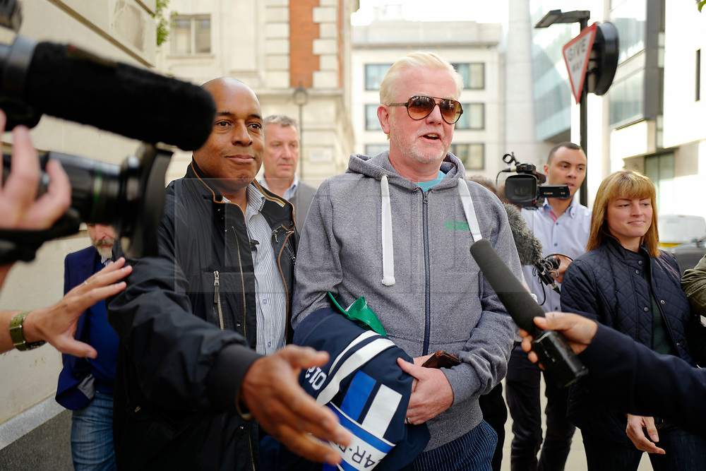 © Licensed to London News Pictures. 03/09/2018. London, UK. CHRIS EVANS leaves the Radio 2 studio at BBC Wogan House in London after announcing that he will step down from his breakfast show. Evans, who has worked at the station for 13 years, will present his last show in December. Photo credit: Tolga Akmen/LNP