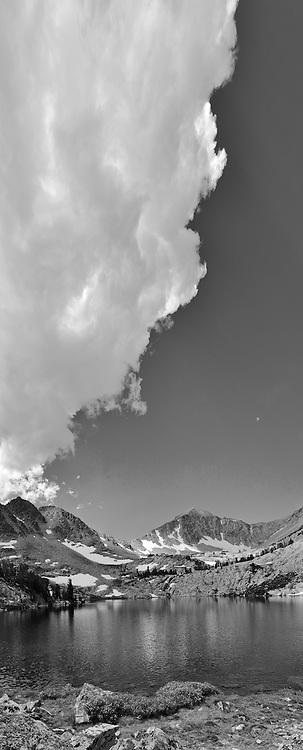 Thunder heads build over Sheep Lake, White Cloud Peaks.