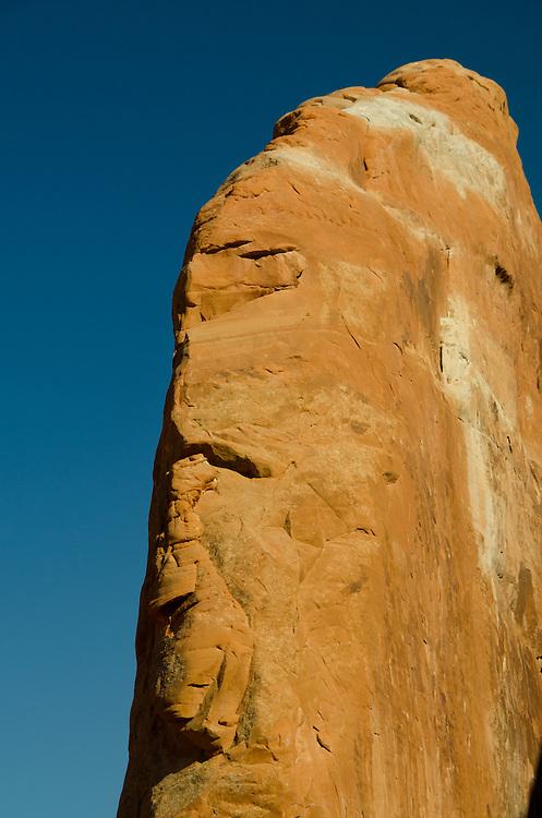 Rock Profile in Devils Garden, Arches National Park, Utah, US