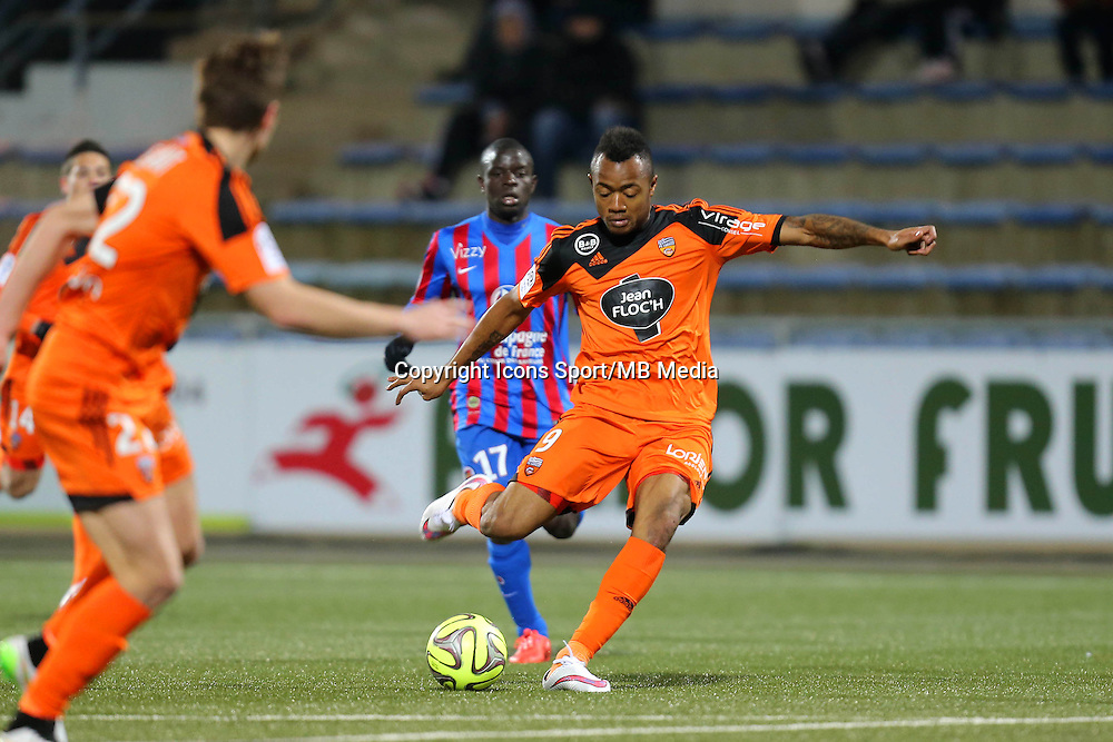 But Jordan AYEW - 14.03.2015 - Lorient / Caen - 29eme journee de Ligue 1<br /> Photo : Vincent Michel / Icon Sport