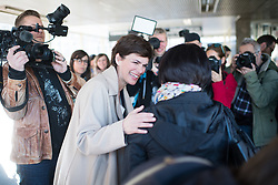 """18.04.2019, Schottentor, Wien, AUT, SPÖ, Fotoaktion mit dem Titel """"KarFREItag für alle"""". im Bild SPÖ-Klubobfrau Pamela Rendi-Wagner // Party whip of the Austrian Social Democratic Party (SPOe) Pamela Rendi-Wagner during photo opportunity due to easter of the austrian social democratic party in Vienna, Austria on 2019/04/18. EXPA Pictures © 2019, PhotoCredit: EXPA/ Michael Gruber"""