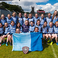 Cooraclare/Cree/Clohanbeg, winners of Division 2 at the Clare Primary Schools Ladies Football Finals at Cusack Park, Ennis, Co. Clare