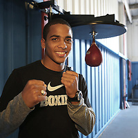 ORLANDO, FL - Felix Verdejo poses in the gym during a media day workout at the Orlando Sports Martial Arts Academy on October 2, 2014 in Orlando, Florida. (Photo by Alex Menendez/Getty Images) *** Local Caption *** Felix Verdejo