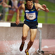 Youcef Abdi, Australia, winning the Men's 3000m Steeplechase event in a time of 8.30.76 at the Sydney Track Classic 2009 held at Sydney Olympic Park Athletics Centre, Sydney, Australia on February 28, 2009. Photo Tim Clayton