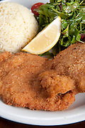 schnitzel Fried breaded chicken breast