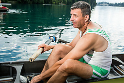 Sadik Mujkic of Slovenian rowing team 25-years after Olympic medals in Barcelona 1992 at practice session preparing for World Rowing Masters Regatta Bled 2017, on July 13, 2017 at Lake Bled, Slovenia. Photo by Vid Ponikvar / Sportida