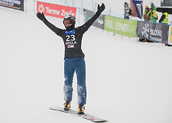 Mastnak Tim during the men's Snowboard giant slalom of the FIS Snowboard World Cup 2017/18 in Rogla, Slovenia, on January 21, 2018. Photo by Urban Meglic / Sportida