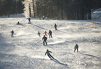 Alpine skiing at Ragged Mountain in Danbury, NH.  Karen Bobotas for the Laconia Daily Sun
