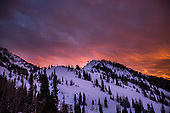 12.20.16 Snowbird, UT Sunset Little Cottonwood Canyon