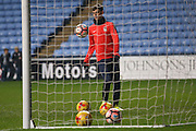 Coventry City midfielder Ruben Lameiras (8) warming up  during the The FA Cup match between Coventry City and Morecambe at the Ricoh Arena, Coventry, England on 15 November 2016. Photo by Simon Davies.