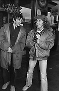 Phil Daniels and Roger Daltrey on the set of Quadophenia Brighton 1979
