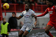 Tom Bolarinwa during the EFL Sky Bet League 2 match between Crawley Town and Grimsby Town FC at the Checkatrade.com Stadium, Crawley, England on 26 November 2016. Photo by Jarrod Moore.