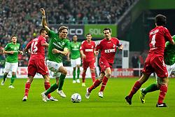 05.11.2011, Weser Stadion, Bremen, GER, 1.FBL, Werder Bremen vs 1.FC Köln, im Bild Clemens Fritz setzt sich gegen Slawomir Peszko (Koeln / Köln #15) durch // during the match GER, 1.FBL, Werder Bremen vs 1.FC Koeln on 2011/11/05, 12. matchday, Weser Stadion, Bremen, Germany. EXPA Pictures © 2011, PhotoCredit: EXPA/ nph/  Gumz       ****** out of GER / CRO  / BEL ******