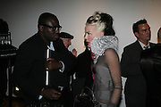 Edward Enninful, and Daphne Guinness, Michael Roberts - book launch party hosted by Vanity Fair to celebrate  publication, Shot In Sicily. Hamiltons Gallery, 13 Carlos Place, London,17 September 2007. -DO NOT ARCHIVE-© Copyright Photograph by Dafydd Jones. 248 Clapham Rd. London SW9 0PZ. Tel 0207 820 0771. www.dafjones.com.