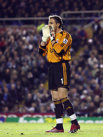 Photo: Rich Eaton.<br /> <br /> Birmingham City v Liverpool. Carling Cup. 08/11/2006. Liverpool goalkeeper Jerzy Dudek shouts instructions to the Liverpool defence
