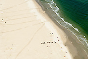 Nederland, Friesland, Ameland, 05-08-2014; ruiters op het Noordzeestrand tussen Ballum en Nes.<br /> Horsemen on Northsea beach at Wadden island Ameland.<br /> luchtfoto (toeslag op standard tarieven);<br /> aerial photo (additional fee required);<br /> copyright foto/photo Siebe Swart