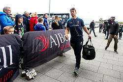Sam Lewis of Worcester Warriors arrives at The AJ Bell Stadium for his side's Gallagher Premiership fixture against Sale Sharks - Mandatory by-line: Robbie Stephenson/JMP - 09/09/2018 - RUGBY - AJ Bell Stadium - Manchester, England - Sale Sharks v Worcester Warriors - Gallagher Premiership
