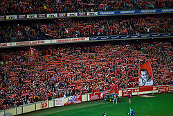 MELBOURNE, AUSTRALIA - Wednesday, July 24, 2013: Liverpool supporters watch their side take on Melbourne Victory during a preseason friendly match at the Melbourne Cricket Ground. (Pic by David Rawcliffe/Propaganda)