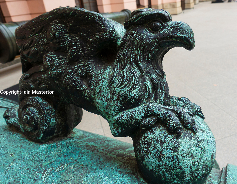 Detail of Eagle on cannon at Berlin History Museum in Germany