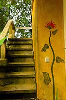 Hotel wall of Eco Village Ubud. Bali revisited January 2012.