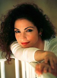 1996. Miami, Florida. .Gloria Estefan relaxes at her home in Miami..Photo; Charlie Varley
