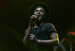 © Licensed to London News Pictures. 30/08/2015. Reading, UK. Kwabs performing at Reading Festival 2015, Day 3 Sunday.  In this picture - Kwabena Sarkodee Adjepong (Kwabs).  Photo credit: Richard Isaac/LNP