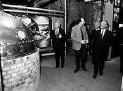 19/08/1988<br /> 08/19/1988<br /> 19 August 1988<br /> Taoiseach visits ROSC '88 at the Guinness Hop Store, Dublin. The Taoiseach Charles Haughey (right) and Mr Brian Slowey, (left) Managing Director, Guinness, Ireland take a tour of the Storehouse.
