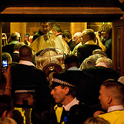 """London October 11th  Several thousand  pilgrims waited for many hours in front of  the  Church of Our Lady of Mount Carmel and St Simon Stock in Kensingtonof  for the arrival of the relics of St Thérèse of Lisieux..St Thérèse was a French Carmelite nun whose love for nature earned her the title of """"The Little Flower of Jesus""""..***Agreed Fee's Apply To All Image Use***.Marco Secchi /Xianpix. tel +44 (0) 771 7298571. e-mail ms@msecchi.com .www.marcosecchi.com"""