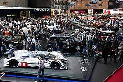 Peugeot display area at the Geneva Motor Show 2011 Switzerland