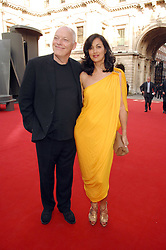 DAVID GILMOUR and his wife POLLY SAMPSON at the Royal Academy of Art Summer Exhibition Preview Party on 4th June 2008.<br />