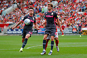 Leeds United midfielder Pablo Hernandez (19)  during the EFL Sky Bet Championship match between Bristol City and Leeds United at Ashton Gate, Bristol, England on 4 August 2019.