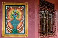small Mural and window detail; Pedasi, Panama