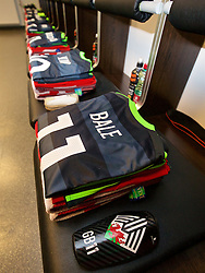 VIENNA, AUSTRIA - Thursday, October 6, 2016: The Wales grey kit of Gareth Bale laid out in the away dressing room ahead of the 2018 FIFA World Cup Qualifying Group D match against Austria at the Ernst-Happel-Stadion. (Pic by David Rawcliffe/Propaganda)