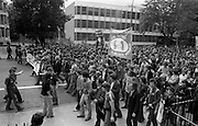 H-Block Protest To British Embassy.  (N86)..1981..18.07.1981..07.18.1981..18th July 1981..A protest march to demonstrate against the H-Blocks in Northern Ireland was held today in Dublin. After the death of several hunger strikers in the H-Blocks feelings were running very high. The protest march was to proceed to the British Embassy in Ballsbridge.