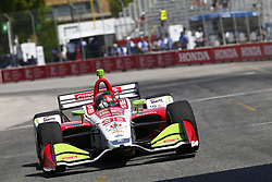 July 13, 2018 - Toronto, Ontario, Canada - MARCO ANDRETTI (98) of the United States takes to the track to practice for the Honda Indy Toronto at Streets of Exhibition Place in Toronto, Ontario. (Credit Image: © Justin R. Noe Asp Inc/ASP via ZUMA Wire)