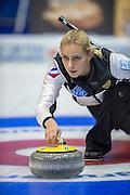 "Glasgow. SCOTLAND.  Russian, ""Skip"",  Victoria MOISEEVA, ""Round Robin"" Games. Le Gruyère European Curling Championships. 2016 Venue, Braehead  Scotland<br /> Monday  21/11/2016<br /> <br /> [Mandatory Credit; Peter Spurrier/Intersport-images]""Round Robin"" Games. Le Gruyère European Curling Championships. 2016 Venue, Braehead  Scotland<br /> Monday  21/11/2016<br /> <br /> [Mandatory Credit; Peter Spurrier/Intersport-images]"