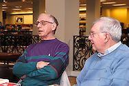 Joe Hemsky of Fairborn (left) and Eugene August of Kettering during a meeting of the Classics Book Club at Books & Company in The Greene, Monday, March 5, 2012.