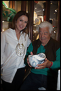 LOUISE OLSEN; ANTONIO CARLUCCIO , Dinosaur Designs launch of their first European store in London. 35 Gt. Windmill St. 18 September 2014
