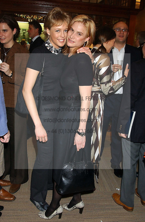 Left to right, LADY ALEXANDRA SPENCER-CHURCHILL and KATHERINE CULLEN at a party hosted by the Gussalli Beretta family to celebrate the opening of the new Beretta store, 36 St.James's Street, London SW1 on 10th January 2006.<br /><br />NON EXCLUSIVE - WORLD RIGHTS