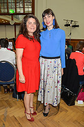 Left to right, DANIELLA HELAYEL and MARIA KASTANI at a lunch in aid of the charity African Solutions to African Problems (ASAP) held at the Royal Horticultural Hall, Vincent Square, London on 19th May 2016.