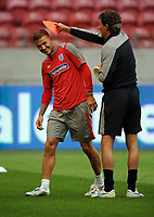 David Beckham<br /> England 2009/10<br /> England Training Session in the Amsterdam Arena 11/08/09<br /> Photo Robin Parker Fotosports International